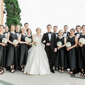 Black Tie Bridal Party