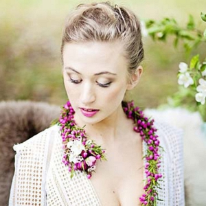 Bride With Floral Necklace