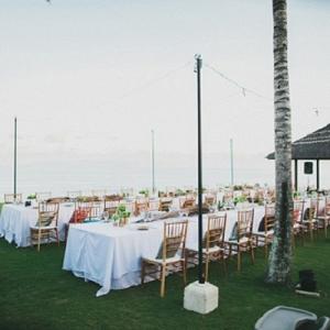 Outdoor Reception Venue Settings