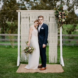 Country Wedding With Macrame Backdrop