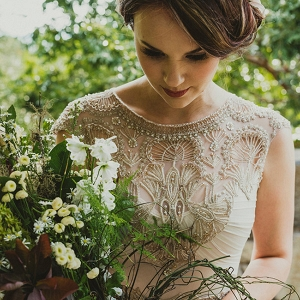 Bride Wearing Gwendolynne