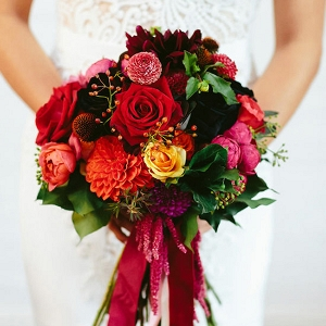 Red Orange And Yellow Bouquet
