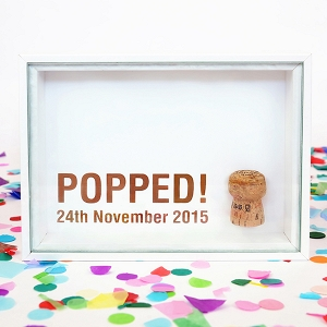 Copper Foil Cork Shadowbox
