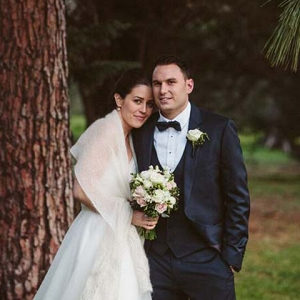 Newlyweds At Winter Wedding
