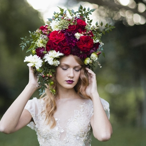 Bold Red Rose Hairpiece