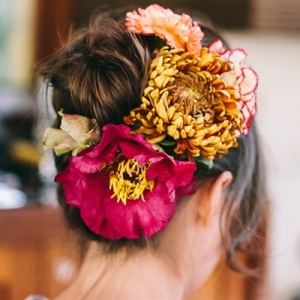 Colorful Hair Flowers