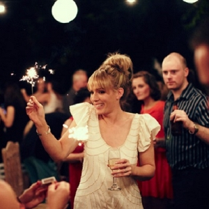 Bride With Sparkler