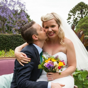 Newlyweds Ecstatic At Garden Wedding