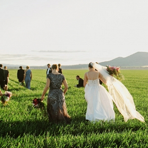 Green Field Wedding Photo