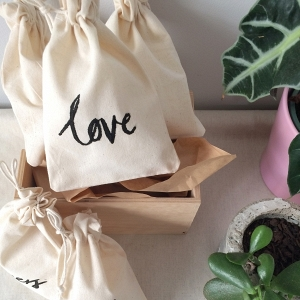 Hand Lettered Gift Bags