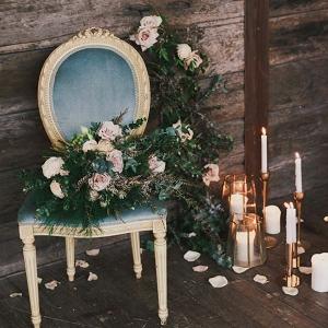 Indoor Rustic Chic Wedding Decor