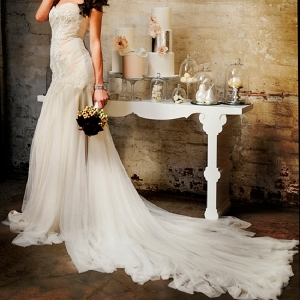 Industrial Chic Bridal Gown