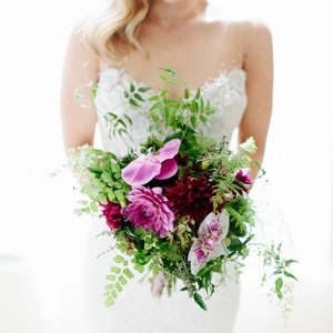 Magenta Wedding Bouquet