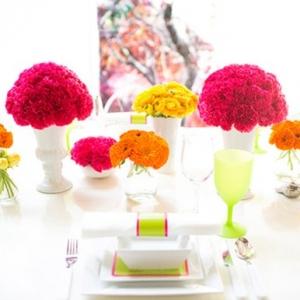 Neon Wedding Tablescape
