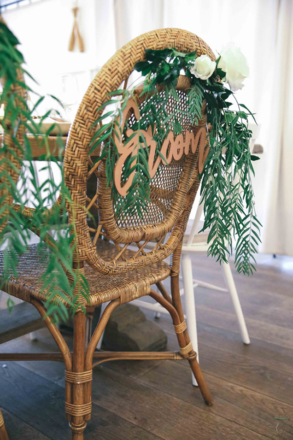Rattan Chairs With Signs