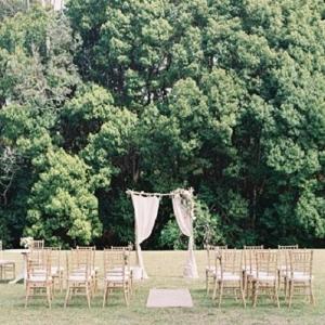 Garden Party Inspired Wedding Ceremony Decor