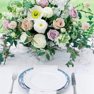 Romantic Place Setting With Blue China