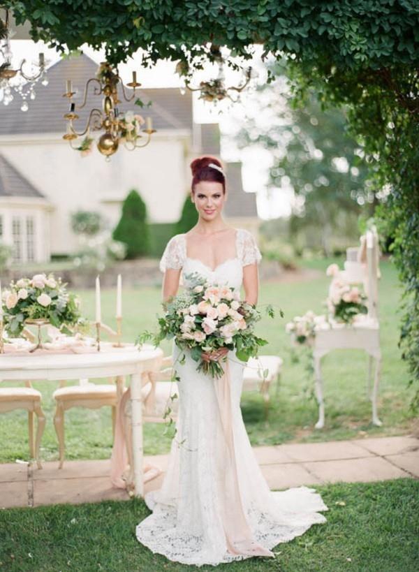 Bride At Outdoor Wedding Reception