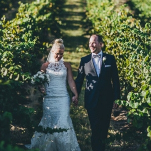 Newlyweds In Vineyards