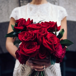 Deep Red Rose Bouquet