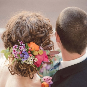 Bright Wedding Hair Flowers