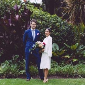 Newlyweds In Fitzroy Gardens