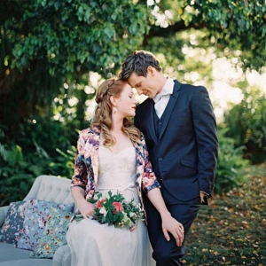 Bride and Groom With Vintage Style