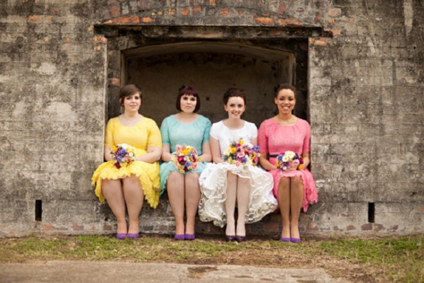 Whimsical Wedding - Bridal party