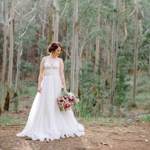 Dreamy Bride In Forest