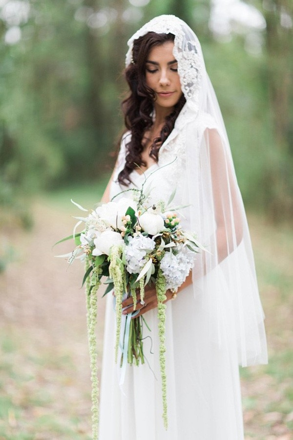Bride With Lace Edged Veil
