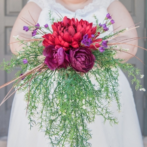 stunning red and green bouquet