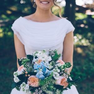 This bride rocked her grandmother's amazing vintage wedding dress!