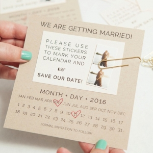 Adorable DIY Save the Date Invitations with free printable designs!
