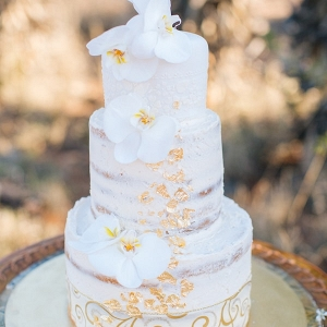 Semi Naked Cake with Gold Detailing