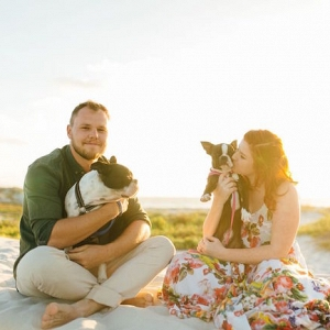 Beach Engagement Shoot with Dogs