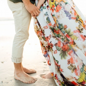 Engagement Shoot with Floral Dress