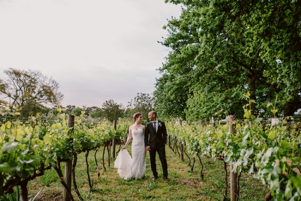 Vineyard Wedding Portrait