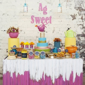 Colorful dessert display