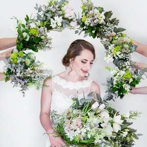 Green and White Wedding Bouquets