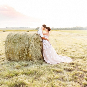 Bride & Groom on Farm