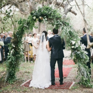 Floral & greenery ceremony arch