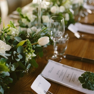 Greenery & White Flower Runner