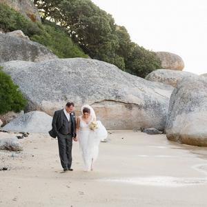Bride & Groom on Beach