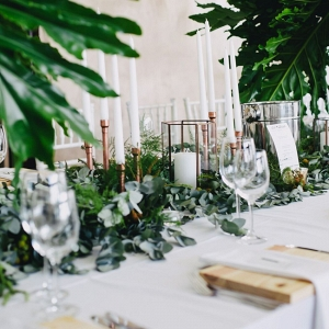 Copper & Greenery Table Decor