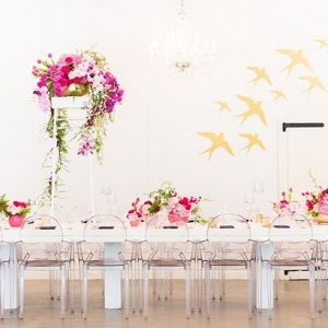 Glamorous Modern Reception Decor