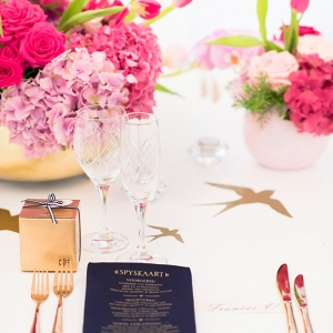Pink, Navy & Gold Place Setting