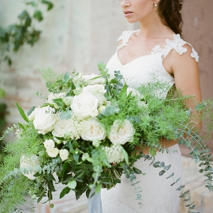 Greenery and White Bouquet