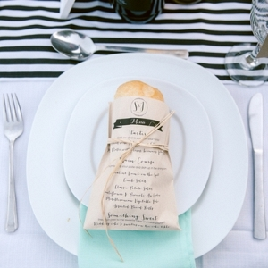 Place Setting with Bread Roll