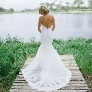 Low Back Lace Wedding Dress