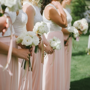 Peach & White Bridesmaid Separates